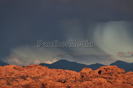 usa nevada valley of fire storm