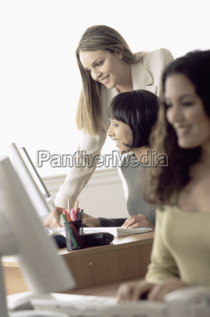 women working in office