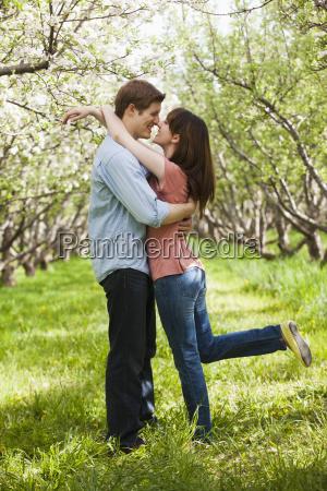 usa utah provo young couple embracing
