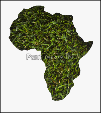 africa map made from grass