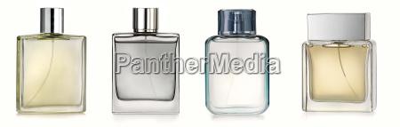 generic perfume bottles isolated on white