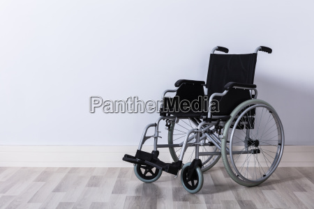 empty wheelchair in room