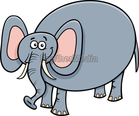 funny elephant animal cartoon character