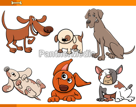 funny cartoon dog characters collection
