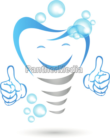 dental implant with hands and smile