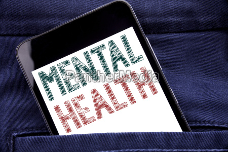 handwriting announcement text showing mental health