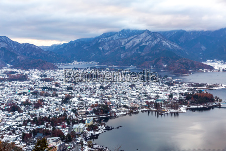 lake kawaguchiko aerial
