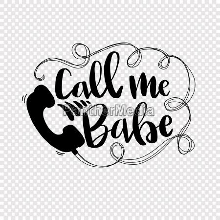 call me babe slang text