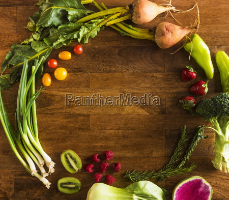 fruit vegetables and herbs