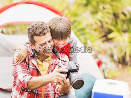 father and son 12 13 using