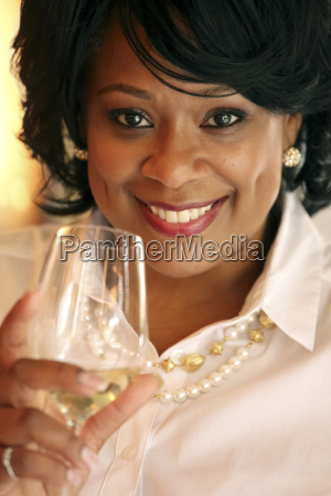 portrait of woman with wineglass