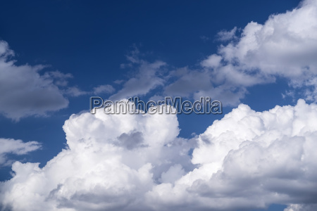 view of puffy cloud formations