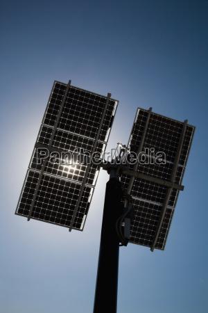 solar panels against clear sky