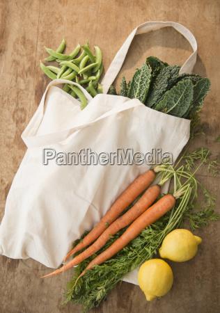 studio shot of organic vegetables in