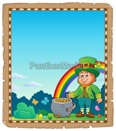 leprechaun theme parchment 2