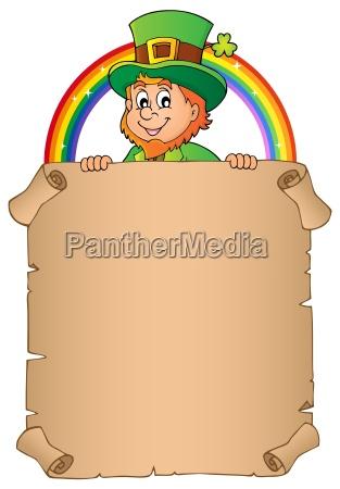 leprechaun holding parchment image 2