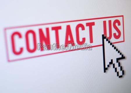 studio shot of cursor on contact
