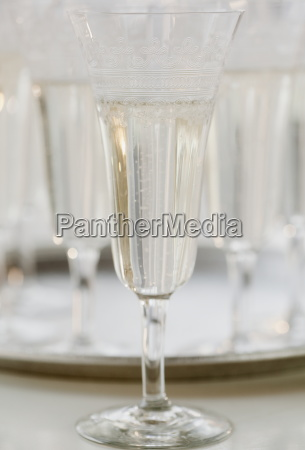 glass of champagne close up still