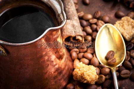 turkish coffee made in cezve