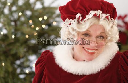 portrait of smiling mrs claus
