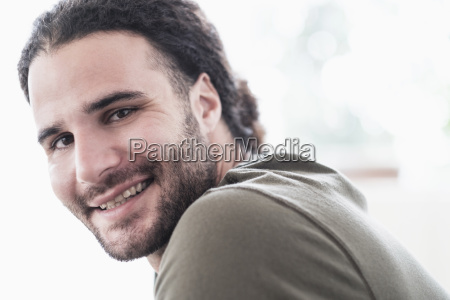 portrait, of, young, man, with, long - 24009354