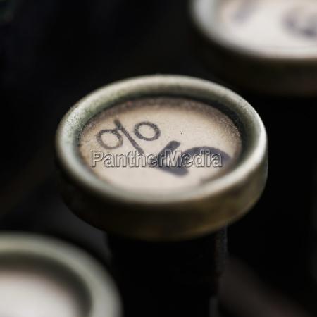 studio shot of antique typewriter