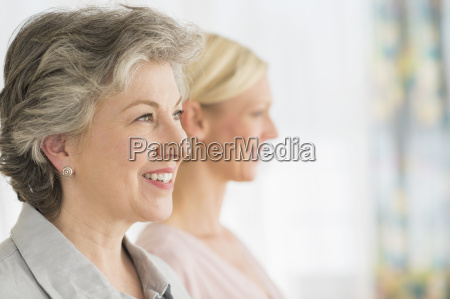 profiles of two mature women
