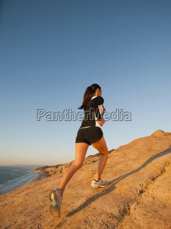 usa california san diego woman jogging