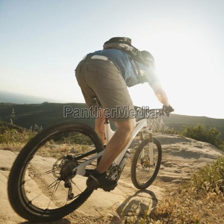 usa california laguna beach mountain biker