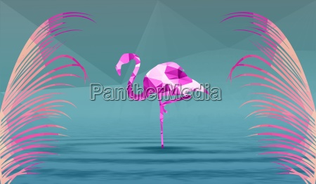 pink flamingo on a background of
