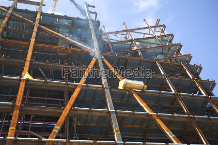 low angle view of construction site