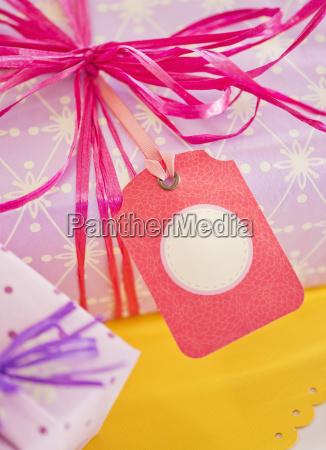 close up of ribbon on birthday