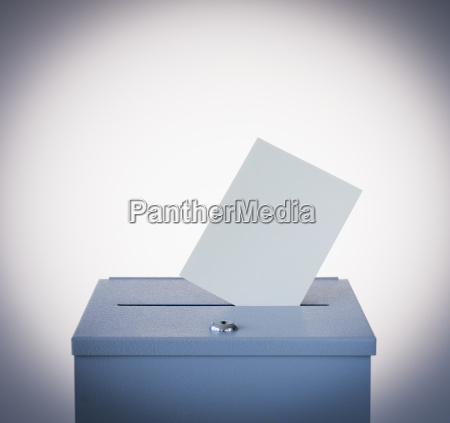 ballot box and blank paper studio