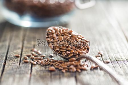 healthy brown linseed