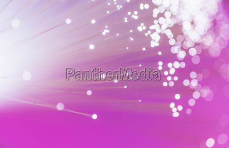 fiber optic glowing studio shot