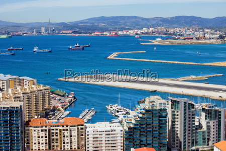 city of gibraltar bay and airport
