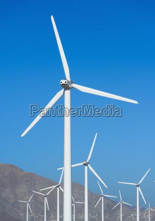 usa california palm springs wind turbines