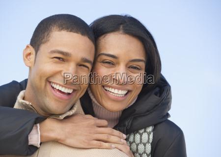 portrait of couple embracing