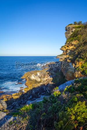 manly beach coastal cliffs sydney australia