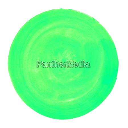 circle with green water color