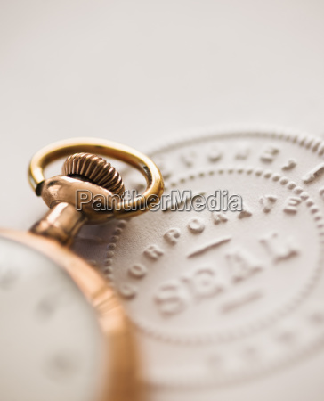 close up of pocket watch and