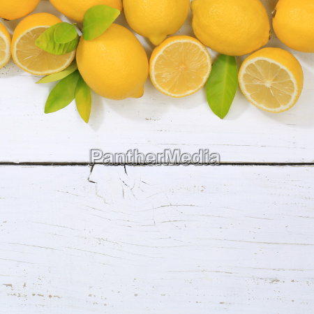 lemon lemons fruit square copy space