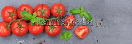 tomato tomato red vegetable banner slate