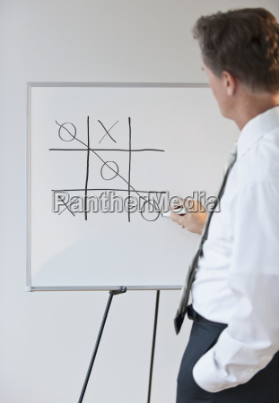 businessman drawing concept for winning