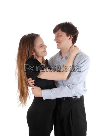 couple lovingly embracing each other