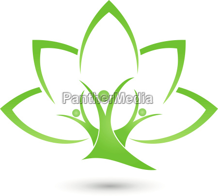 tree plant leaves people naturopaths logo