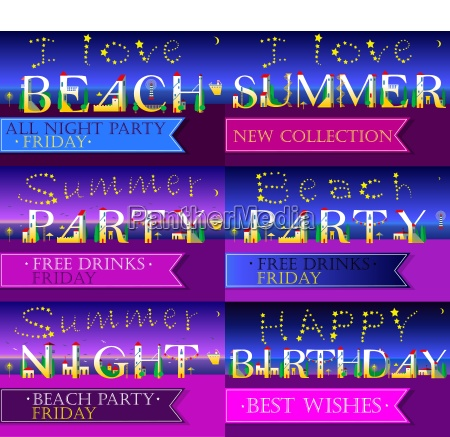 invitation cards to parties artistic font