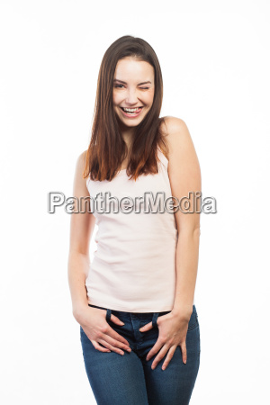 casual and funny young woman