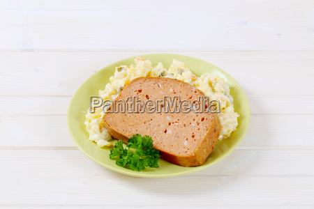 meat loaf with potato salad