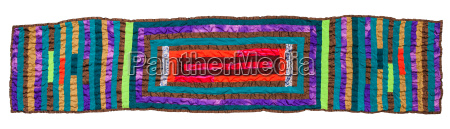 stitched patchwork scarf isolated on white